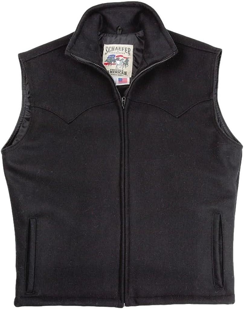 B0763SW6B6 Schaefer Outfitter Men's Arena Melton Wool Vest - 730-Bk 61EfdalwpxL.UL1024_