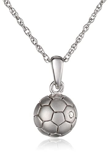 Amazon sterling silver childrens soccer ball pendant sterling silver childrens soccer ball pendant necklace 133quot extender mozeypictures Image collections