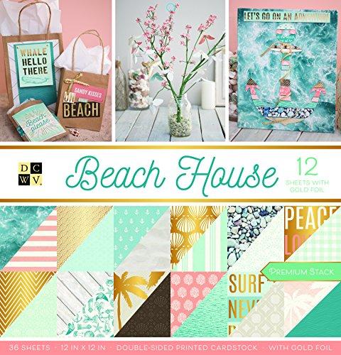 Beach 12x12 Paper (American Crafts Card Stock 12