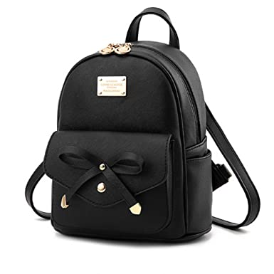 Amazon.com: Cute Mini Leather Backpack Fashion Small Daypacks ...