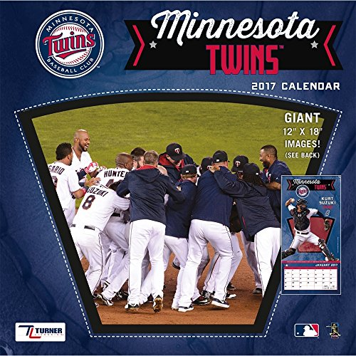 "Turner Licensing Sport 2017 Minnesota Twins Team Wall Calendar, 12""X12"" (17998011855)"