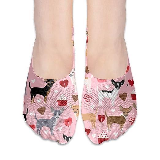 40b71a4e6ec92 Amazon.com: Colorful Footprint Chihuahua Valentines Blossom Unisex ...