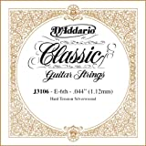 D\'Addario J3106 Rectified Classical Guitar Single String, Hard Tension, Sixth String