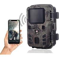 SuntekCam Mini cámara de Caza WiFi 24 MP 1296P Bluetooth WiFi App con Sensor de Movimiento, cámara de Caza con…