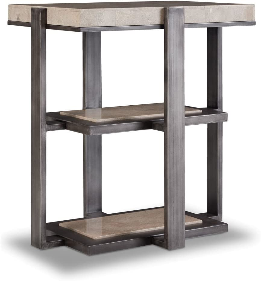 Hooker Furniture Marble Top Chairside Table in Gray