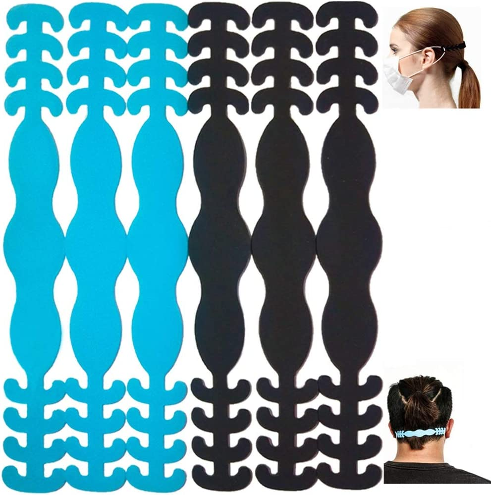BLScode Mask Strap Extender 6 PCS 2020 Update Anti-Tightening Mask Holder Hook Ear Strap for Adults and Children