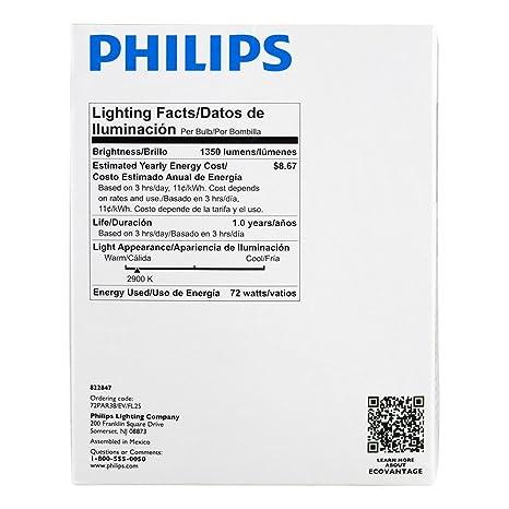 Philips 419408 Halogen PAR38 90 Watt Equivalent Dimmable Flood Standard Base Light Bulb