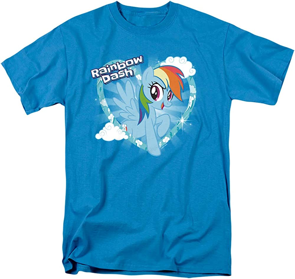 My Little Pony TV Rainbow Dash Unisex Adult T Shirt for Men and Women