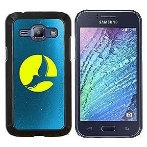 """Be-Star Único Patrón Plástico Duro Fundas Cover Cubre Hard Case Cover Para Samsung Galaxy J1 / J100 ( Paloma de la Luna Llena"""" )"""
