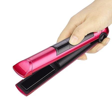 Umiwe Planchas sin cable para el cabello, mini plancha plana recargable USB con placa de calentamiento flotante 3D de doble cara y plancha de viaje ...