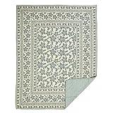 VHC Brands 29374 Farmhouse Bedding Briar Cotton Quilt - Twin Size, Sage