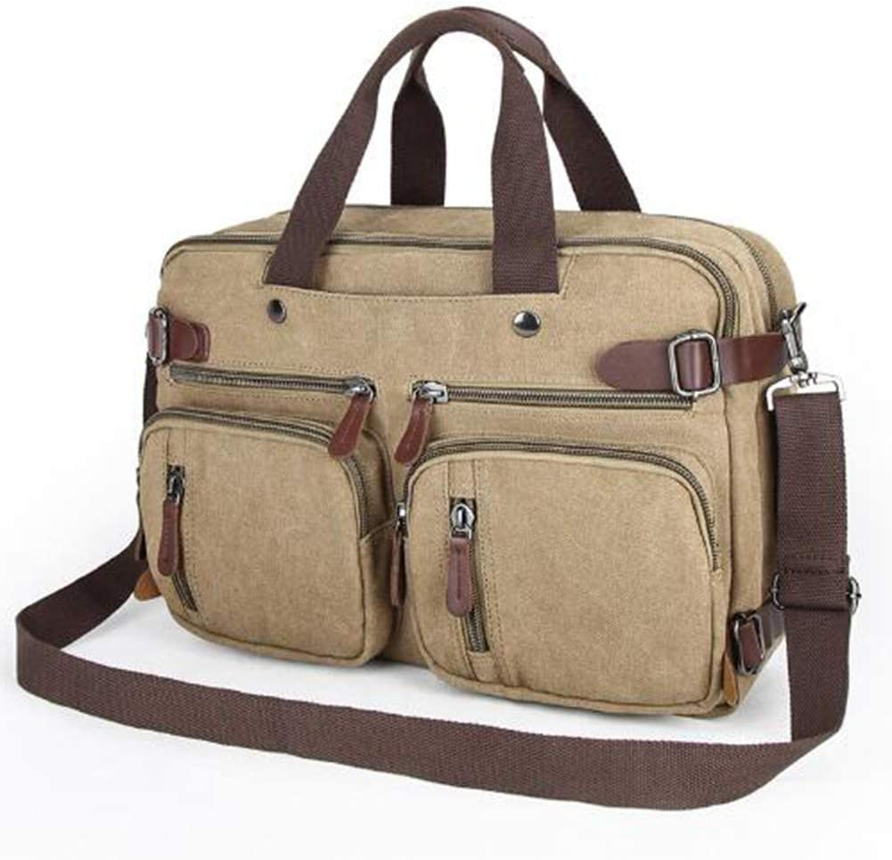 HXZB Mens Casual Canvas Shoulder Bag Large Capacity Briefcase Mens Crossbody Shoulder Satchel Bag
