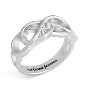 Promise Ring For Bff Friends Double Infinity Ring Double Infinity