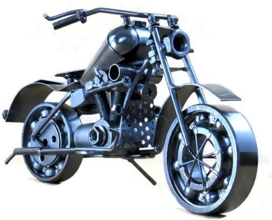 Vintage Metal Motorcycle Iron Sculpture Model Home Desktop Decoration Motorbike
