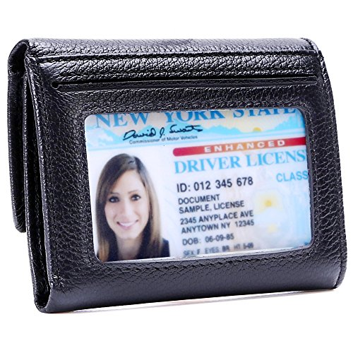 Kinzd Women Ladies Trifold Luxury Leather Wallet RFID Blocking Purse Card Holder ()