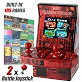 GBD Kids Mini Classic Arcade Game Cabinet Machine with 183 Handheld Video Games 2.8''Joystick and Buttons for Boys Children Travel Portable Gaming Electronic Novelty Toys (Battle Joystick)