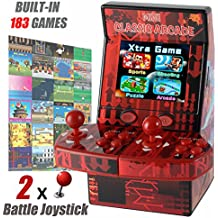GBD Kids Mini Classic Arcade Game Cabinet Machine with 183 Handheld Video Games 2.8''Joystick and Buttons for Easter Gifts Boys Kids Children Travel Portable Gaming Electronic Novelty Toys