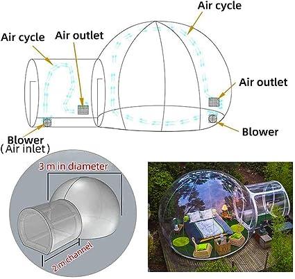 GFKD Inflable Burbuja Carpa Casa, Acampar de la Familia del ...