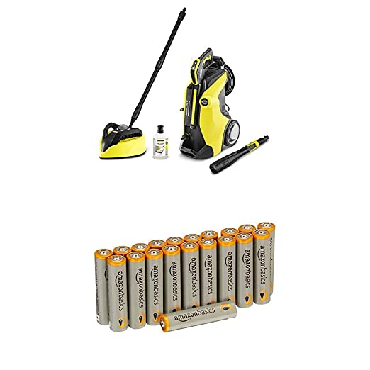 Kärcher K7 Premium Full Control Plus Home Pressure Washer with Amazon Basics Batteries