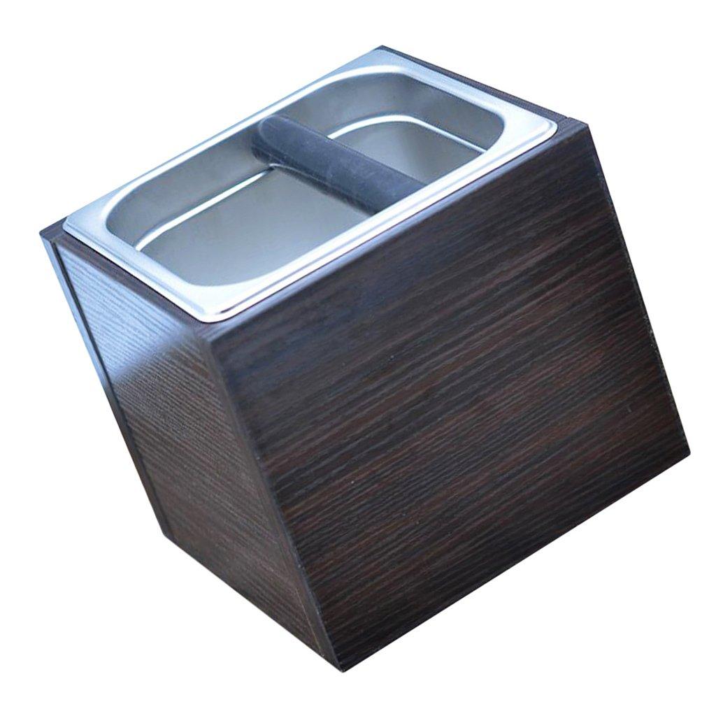 Baoblaze 1pc Metal Duable Coffee Knock Box Grindenstein Espresso Grinds Tamper Waste Bin