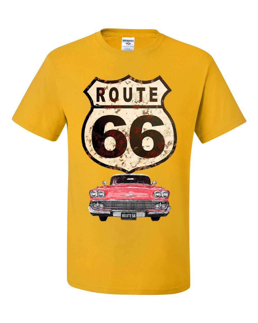Route 66 Retro Car T Shirt The Mother Road American Classic T 4969