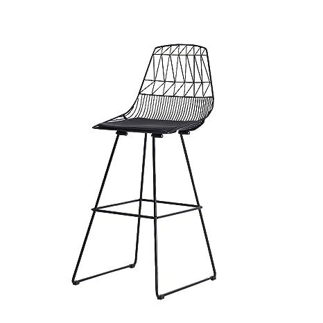 Amazon.com: GJM Shop - Silla de bar de hierro nórdico con ...