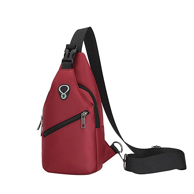 Tinksky Multi-Functional Fashion Leisure Trend Chest Bag Waterproof Oxford  Cloth Shoulder Diagonal Package Sling 1155ad63c7956