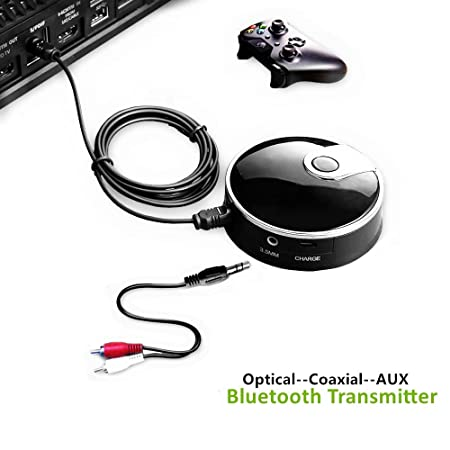 Amazon.com: Bluetooth Transmitter Optical, 3.5mm Aux, Digital TOSLINK, Coaxial Input Wireless Audio Adapter (aptX Low Latency, Pair 2 At Once, ...