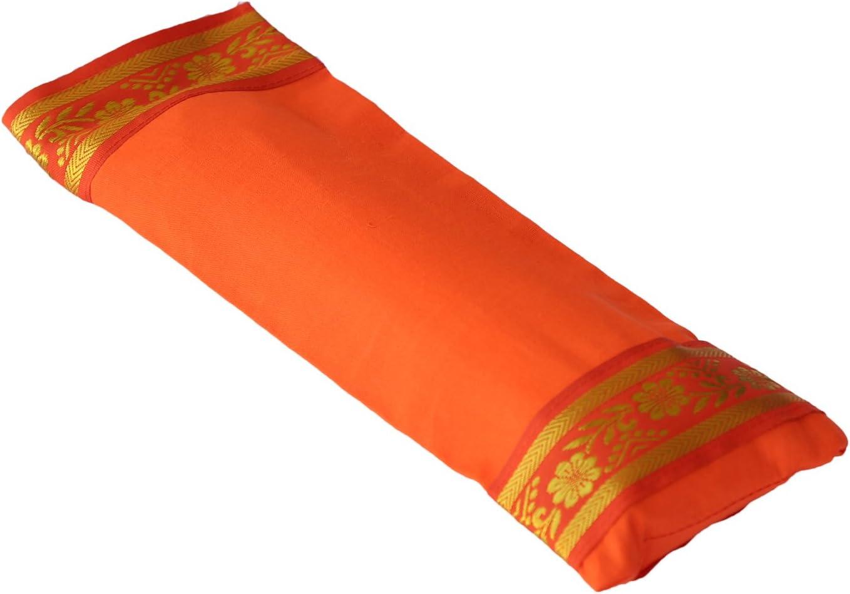 - Naranja Almohada de Ojo de Yoga Yoga United Funda 100/% Algod/ón, rellena de Lavanda y linaza Relajaci/ón y Meditaci/ón
