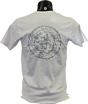 Camiseta Bordada India para Hombre Blanco XL: Amazon.es: Ropa y accesorios