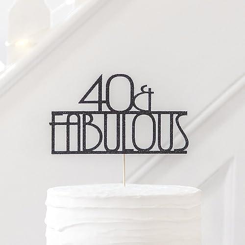 Phenomenal 40Th Birthday Fabulous Cake Topper Party Cake Decoration 40 Funny Birthday Cards Online Aeocydamsfinfo