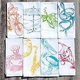 Nautical Napkins Set of 8 Cloth Cotton Kitchen Table Linens