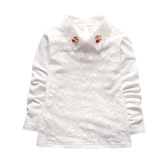 Logobeing Mangas Largas Bebé Niña de Cuello Alto Tops Camiseta Ropa de  Abrigo  Amazon.es  Ropa y accesorios a51b745b21795