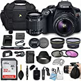 Canon EOS Rebel T6 18MP DSLR Camera Bundle with EF-S 18-55mm f/3.5-5.6 IS II Lens + 32GB Memory + Camera Bag + 3 Pc Filter Kit + 2.2x Telephoto + 0.43x Macro Close Up Lens + More Accessories