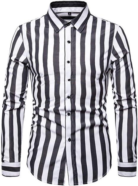 DUANXU Pullover/Sudadera Capucha/Camisas de Manga Larga para Hombre Camisa de Cuello Descubierta a Rayas para Hombre Talla Grande Casual Ropa de Corte Slim Hombre: Amazon.es: Deportes y aire libre