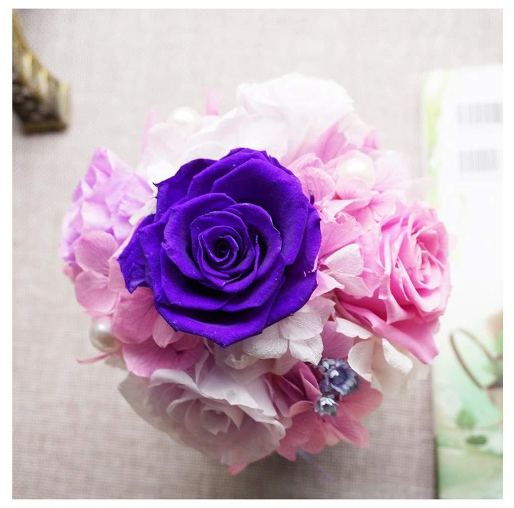 THOR-YAN 永遠の花クリエイティブギフトの色の変化ローズ色の円柱の花永遠の花 - 造花 3265 (Color : D) B07STZ85F4 D