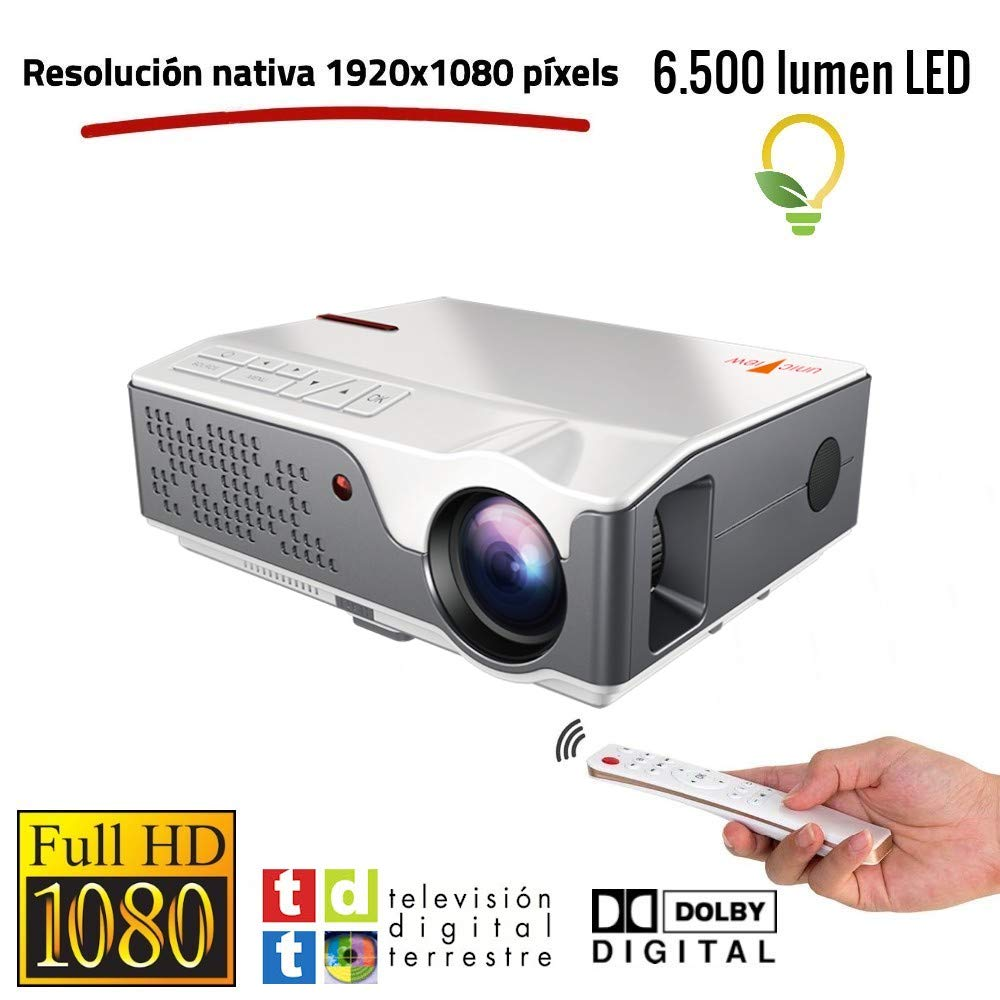 Proyector Full HD Nativo 1080P, Unicview FHD950 (1920x1080) 6.500 ...