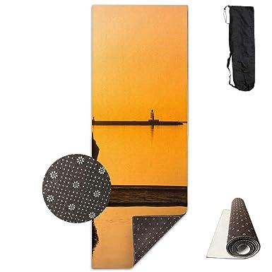 Amazon.com: Sunset Couple Kissing at The Seaside Yoga Mat ...