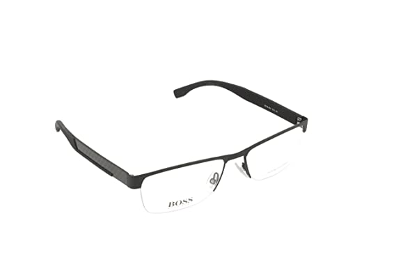 49dc253b4c8 Image Unavailable. Image not available for. Color  HUGO BOSS Eyeglasses  0644 0Hxj Black Carbon 56MM