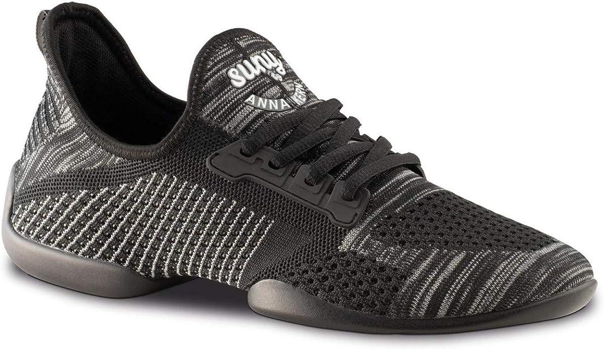 Anna Kern Hombres Zapatos de Baile/Dance Sneakers 4010 Pureflex - Negro - Suela de Sneaker