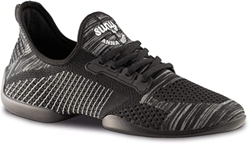 Anna Kern Herren Dance SneakersTanzschuhe 4010 Pureflex Schwarz Sneaker Sohle