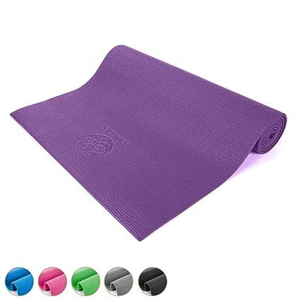Yamkas Esterilla Yoga Studio Mat PVC 6mm | Dedicado Estera Antideslizante Ecologico | Colchoneta Gimnasia | Fitness | Pilates | Yoga Matt