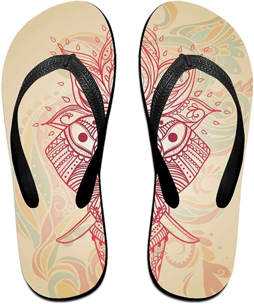 Unisex V Flip Flops Yoga Chakra Personalized Summer Slipper