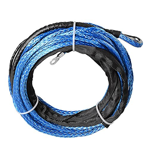 Astra Depot Blue 3/16 x 50 Foot ATV UTV Truck Winch Rope Warn Compatable