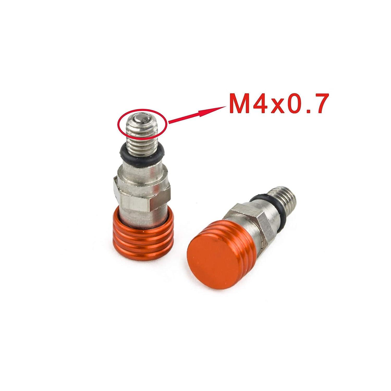 NICECNC M4x0.7mm Fork Bleeders Valves for EXC SX SXF XC XCW 250/350/400/450/500/525 530 HUSKY, WP, Marzocchi, Olins, Paioli Forks Husqvarna, Beta, Gas Gas