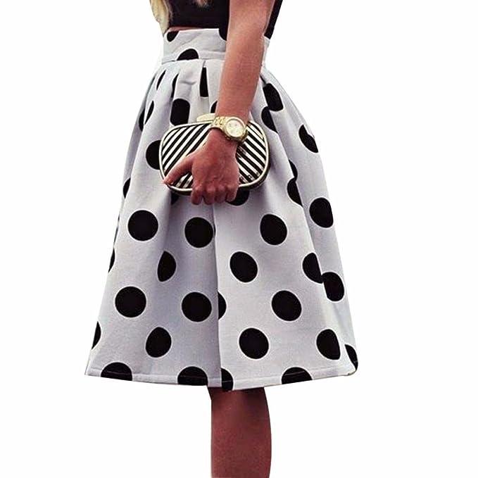 Clearance Sale Yogogo Damen Polka Dot Rock Unterkleid Röcke Petticoat Retro Kleid 50er Rockabilly Festliches Damenkleid Blickdicht Fluffiger