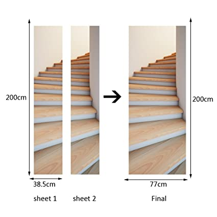 Adesivi Murali Per Scale.Erkeji Adesivi Murali Per Scale Adesivi Murali Per Porte 3d