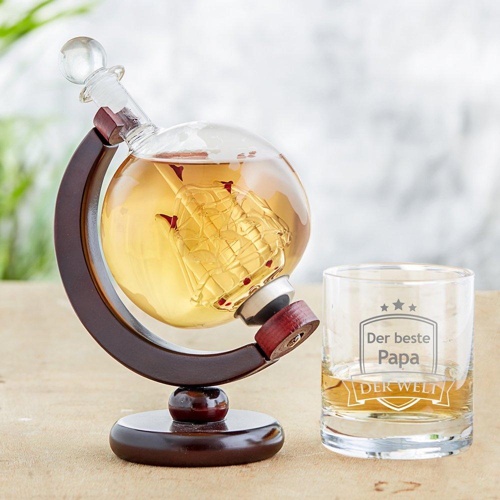 Whisky Jarra Globo Terráqueo y Whisky cristal - Juego de 2 ...