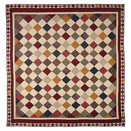 Patch Magic Twin Rustic Cabin Quilt, 65-Inch by 85-Inch for sale  Delivered anywhere in Canada