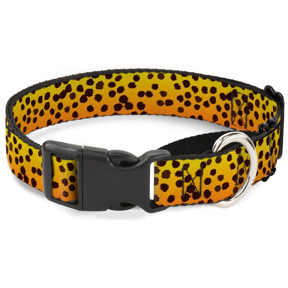 Buckle-Down Cheetah Martingale Dog Collar, 1  Wide-Fits 11-17  Neck-Medium